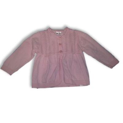 68-74-es rózsaszín kötött kardigán - George