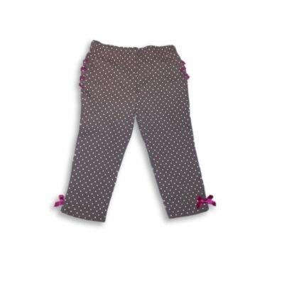 62-68-as szürke pöttyös leggings - Chick Pea