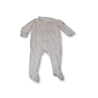80-as fehér szivecskés hosszú ujjú rugi - C&A