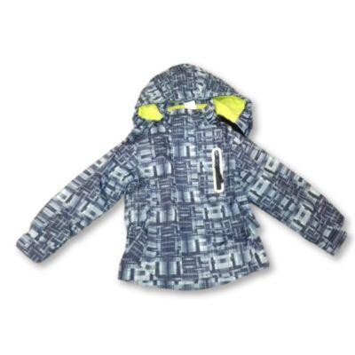 110-116-os kék mintás átmeneti kabát