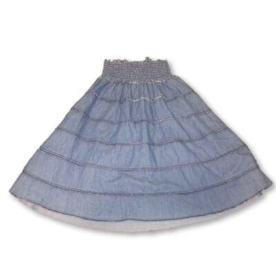 134-140-es kék farmerruha