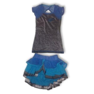 146-os kék kétrészes táncruha, fellépőruha - Iringó Dance
