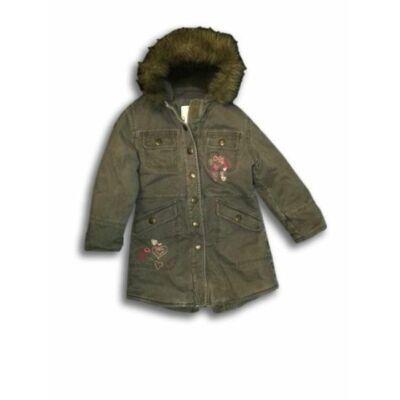116-os khaki bélelt lány téli kabát - Cherokee