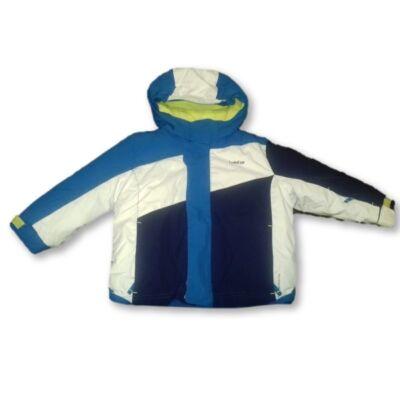 80-86-os kék-sárga-fehér téli dzseki, sídzseki - Wedtze, Decathlon