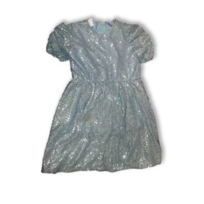 4-6 évesre csillogó kék hercegnőruha
