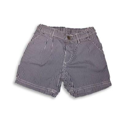 98-as kék-fehér csíkos lány short, rövidnadrág - H&M