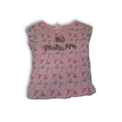 122-es rózsaszín lámás póló