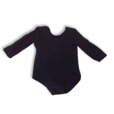 92-98-as fekete hosszúujjú pamut tornadressz
