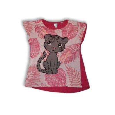 128-as piros leopárdos póló