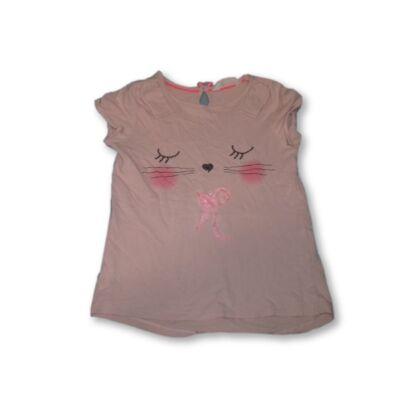 122-128-as rózsaszín cicás póló - H&M