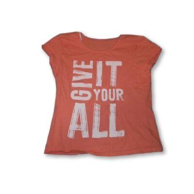 128-as narancssárga feliratos póló