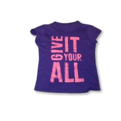 122-128-as lila feliratos póló