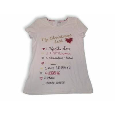146-os fehér csillogó póló - Marks & Spencer