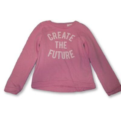 140-es rózsaszín pamut pulóver - H&M