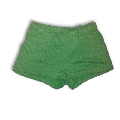 146-os zöld pöttyös pamutshort, rövidnadrág