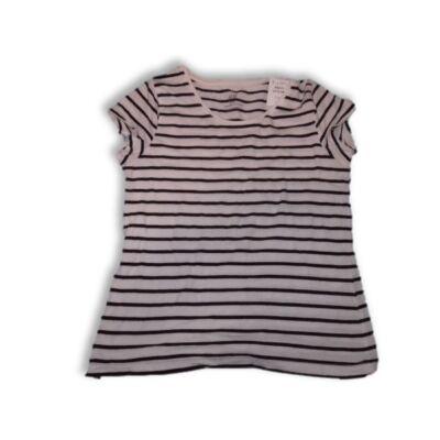 134-140-es fekete-fehér csíkos lány póló - H&M