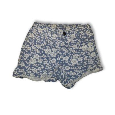 128-as kék virágos short, rövidnadrág - H&M