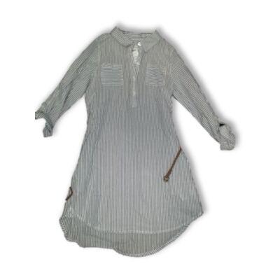 140-es kék-fehér csíkos ingruha - H&M