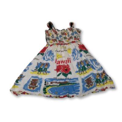134-es nyári pamut ruha Hawaii térképével