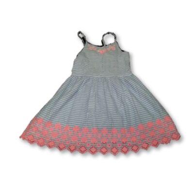 140-146-os kék csíkos madeirás ruha - George