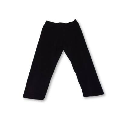134-140-es fekete térdig érő leggings