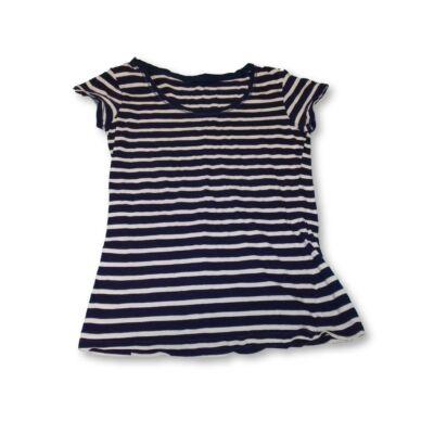 164-es kék-fehér csíkos lány póló
