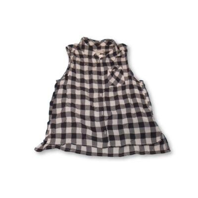158-as fekete-fehér kockás ujjatlan blúz - H&M