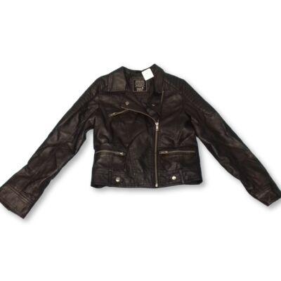 146-os fekete lány bőrhatású kabát - C&A