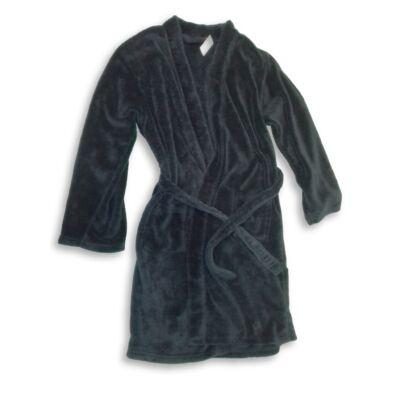 158-164-es sötétkék szőrmés köntös - George