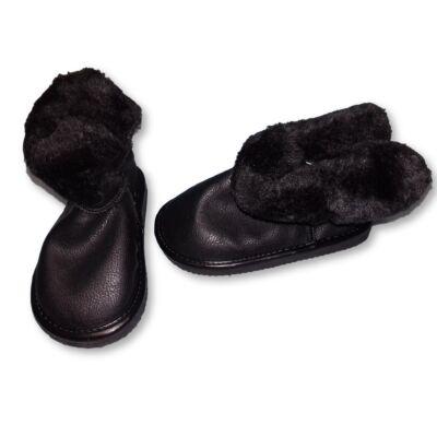 25-ös fekete szőrmés kiscsizma lánynak - H&M - ÚJ