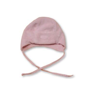 41cm-es fejre rózsaszín szőrmés bébisapka