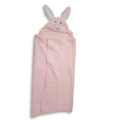 Nyuszis rózsaszín plüss takaró