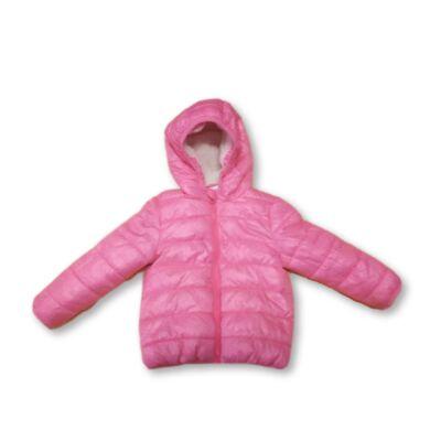 86-92-es rózsaszín szőrmével bélelt télikabát - F&F