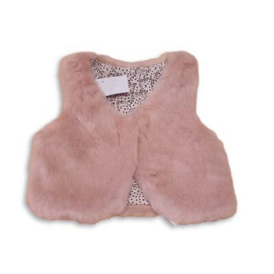 68-74-es rózsaszín szőrmés mellény