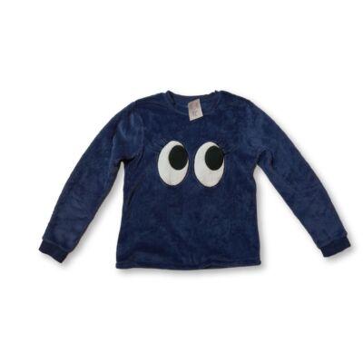 152-es kék szőrmés szemecskés pulóver - C&A