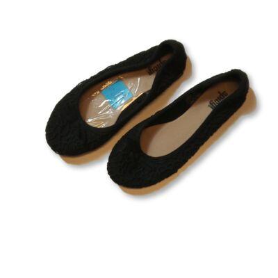 36-os fekete magában mintás balerinacipő