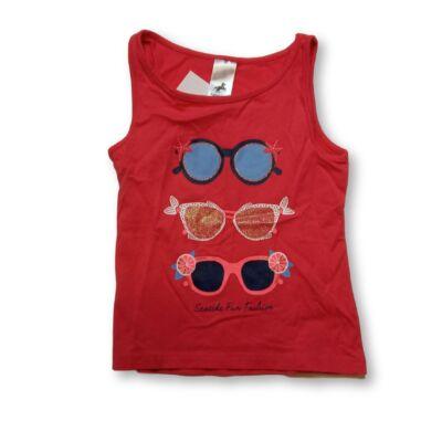 104-es piros ujjatlan szemüveges póló - C&A