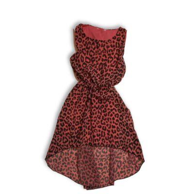 152-es rózsaszín párducmintás lenge ruha