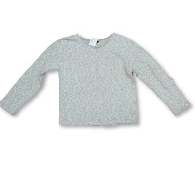 134-140-es szürke mintás csillogó pulóver - George