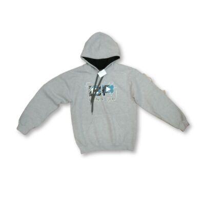 Férfi S-es szürke feliratos pulóver