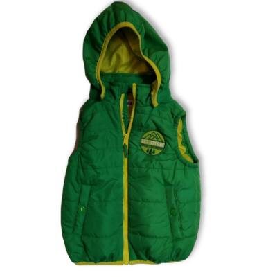 110-es zöld kapucnis mellény - H&M