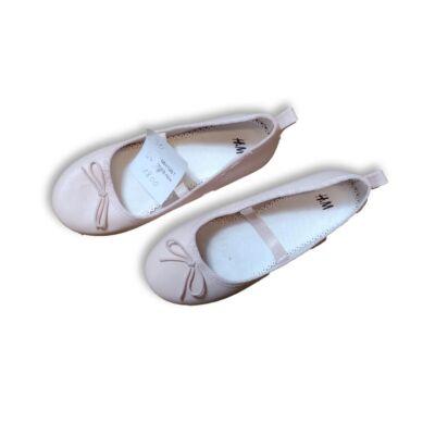 30-as rózsaszín pántos balerinacipő - H&M - ÚJ