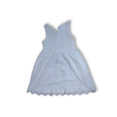 122-128-as fehér csipkés alkalmi ruha - H&M