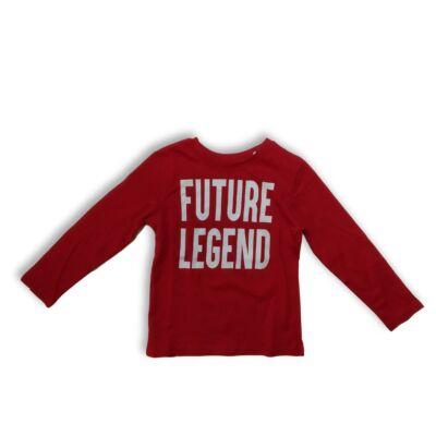 116-os piros feliratos fiú pamutfelső - Primark - ÚJ