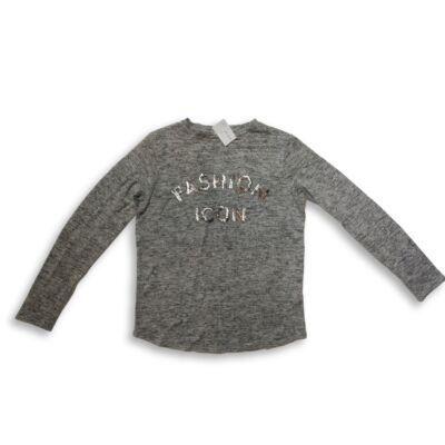 158-as szürke flitteres pulóver - Primark