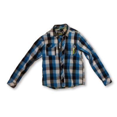 158-164-es kék kockás hosszú ujjú ing - C&A
