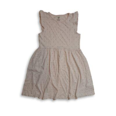 134-140-es rózsaszín pöttyös ruha - H&M