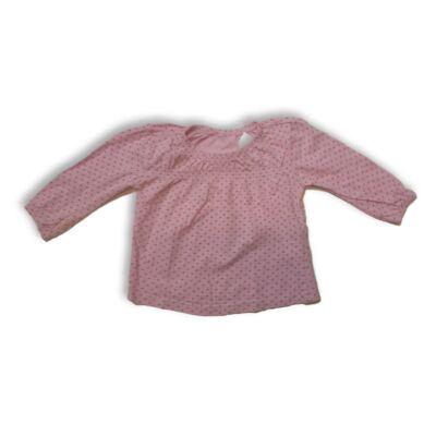 86-os rózsaszín szivecskés pamutfelső - Ergee