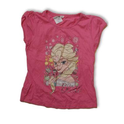 122-128-as rózsaszín póló - Frozen, Jégvarázs