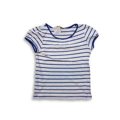 110-116-os kék-fehér csíkos póló - H&M